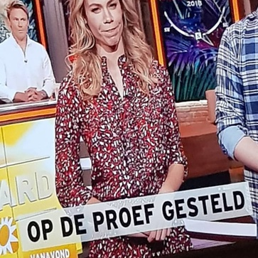 Spotted at #rtlboulevard animal dress @alixthelabel @nicolettekluijver_