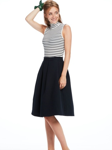 Masion Scotch Stripe A-lijn skirt combi