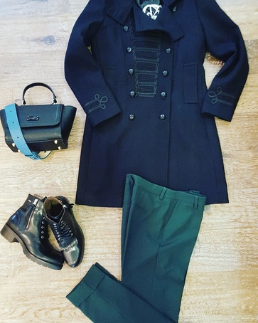 Winter Caban #Giacomo pantalon #StyledByFashionguru Bag #Paulsboutiquelondon Shoes #NeroGiardini