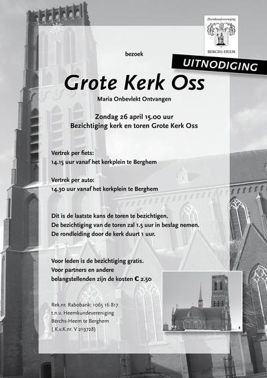 Uitnodiging bezichtiging Grote Kerk