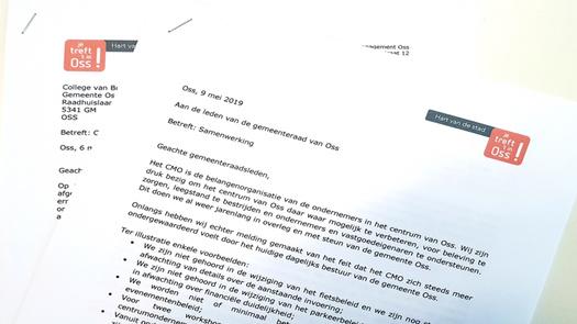 Brief aan gemeenteraad Oss - onderwerp: Samenwerking