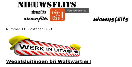 Nieuwsflits Wegafsluitingen Walkwartier!