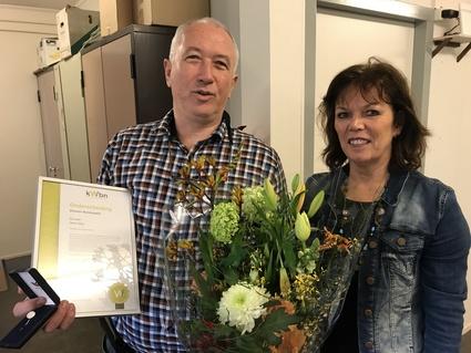 Henk Klijn met KWBN-medewerkster Antoinet van der Meer-Gertsen