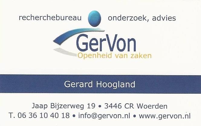GerVon, recherchebureau, onderzoek, advies