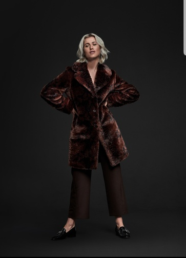 Face fur coat