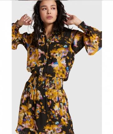 Alix Chiffon dress yellow