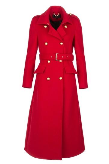 Rode Lange trenchcoat