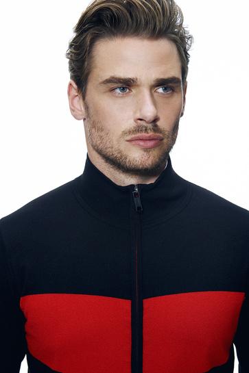 Red & Black Knitwear by Genti