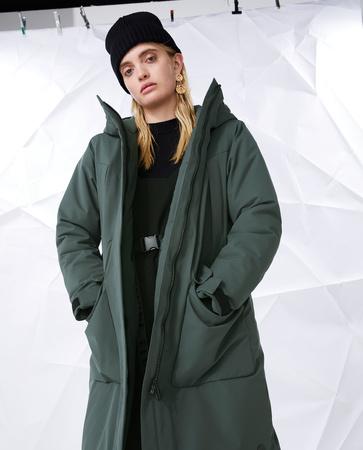 Technische Elvine dames parka green/grey