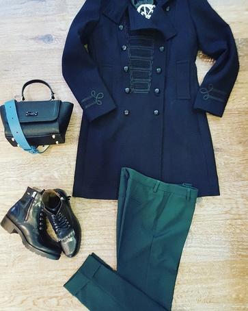 Winter Caban #Giacomo pantalon #StyledByFashionguru Bag #Paulsboutiquelondon Shoes #NeroGiardini
