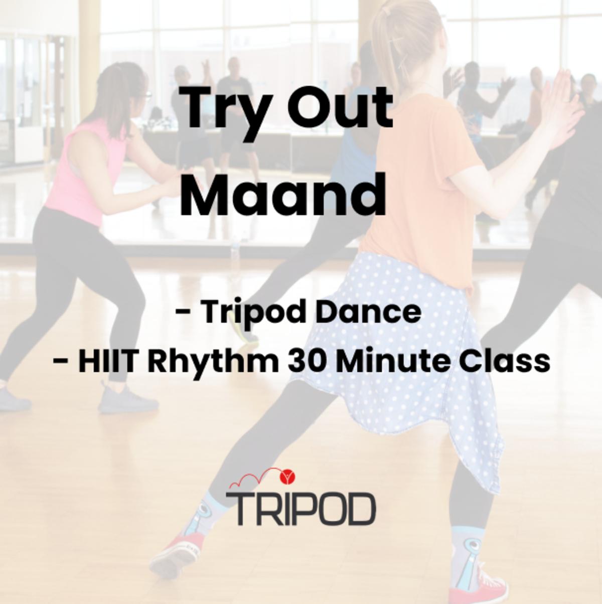 Tripod's Try Out Maand   Tripod Dance & HIIT Rhythm 30 Minute Class